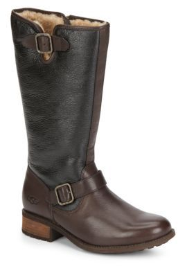 Chancery UGGpure-Lined Colorblock Leather Boots $295 thestylecure.com