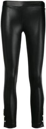 Twin-Set faux leather cropped trousers