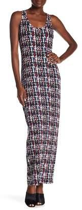 Loveappella Printed Racerback Maxi Dress