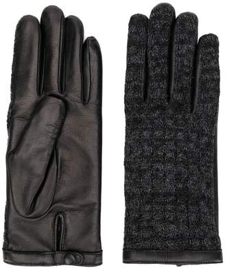 Agnelle leather knitted gloves