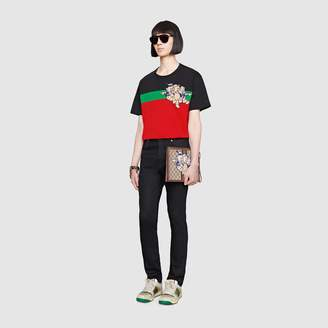 Gucci Men's oversize t-shirt with Three Little Pigs