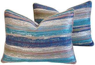 One Kings Lane Vintage Old World Weavers Marine Pillows - Set of 2