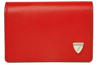 Aspinal of London Accordion Credit Card Holder In Smooth Scarlet