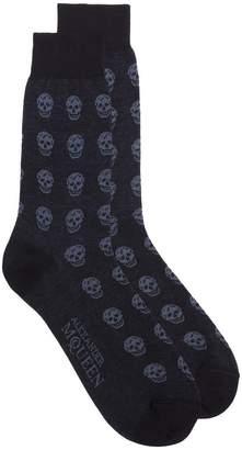Alexander McQueen skull pattern short socks