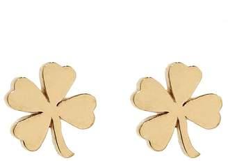 Jennifer Meyer Mini Four-Leaf Clover Stud Earrings - Yellow Gold