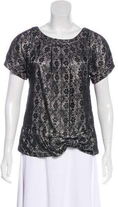 Marc by Marc Jacobs Lace Short Sleeve Blouse