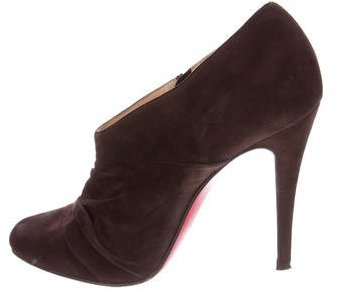 Christian Louboutin  Christian Louboutin Suede Pointed-Toe Booties