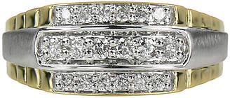 JCPenney FINE JEWELRY Mens 1/2 CT. T.W. Diamond 10K Yellow Gold Ring