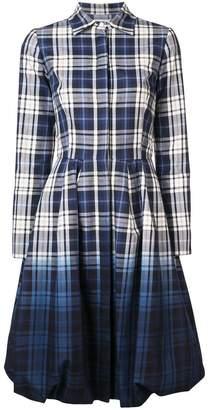 Oscar de la Renta dip dye check dress