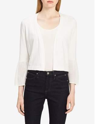 Calvin Klein mesh cuff 3/4 sleeve shrug