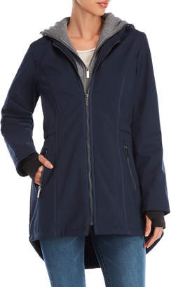 French Connection Bibbed Hooded Fleece Lined Coat