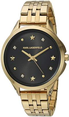 Karl Lagerfeld Women's 'Karoline' Quartz Stainless Steel Casual Watch, Color -Toned (Model: KL3010)