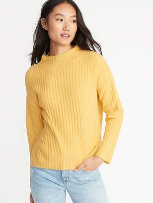 Old Navy Mock-Neck Rib-Knit Sweater for Women