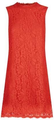 Dolce & Gabbana Scalloped Lace Sleeveless Dress