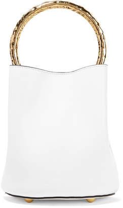 Marni Pannier Small Leather Bucket Bag - White
