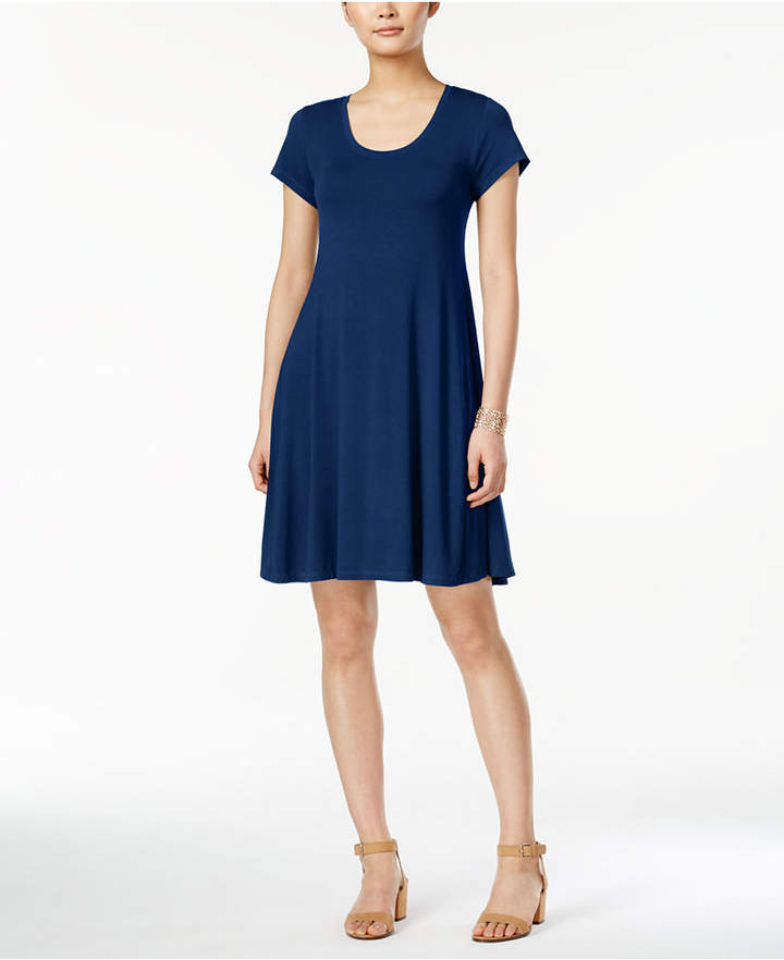 Style & Co Short-Sleeve A-Line Dress, Only at Macy's