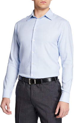 Emporio Armani Men's Diagonal Stripe Modern Fit Dress Shirt