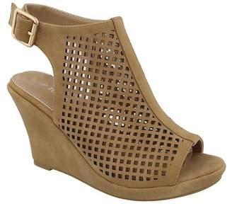 Top Moda Charm Wedge Slingback Sandal