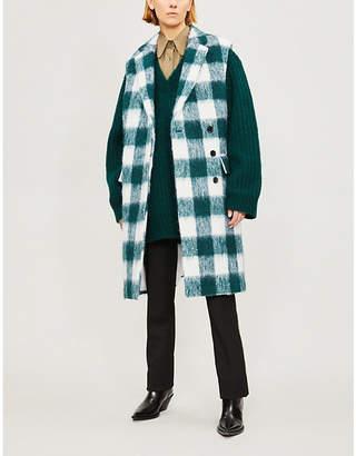 Calvin Klein Checked wool-blend coat
