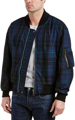 Burberry Hawton Reversible Check Cotton And Nylon Bomber Jacket