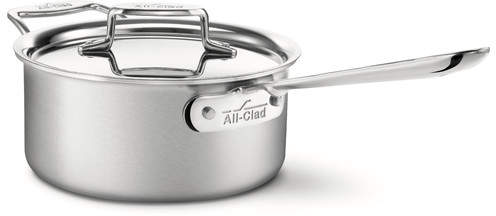 All-Clad Brushed Stainless Steel Saucepan with Lid