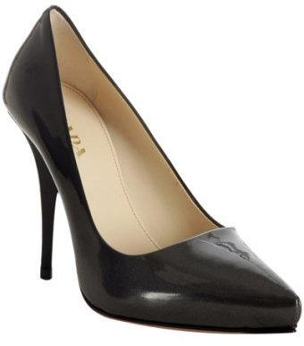 Prada smoke ombré patent pointed toe pumps
