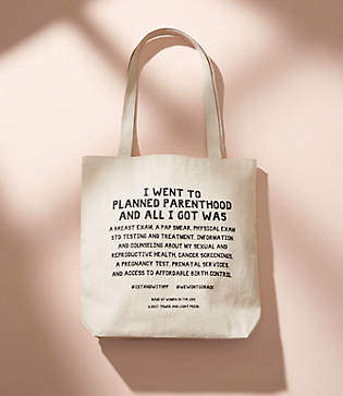 Lou & Grey Power & Light Press Stand With Planned Parenthood Tote Bag