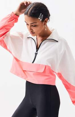 LA Hearts Colorblock Half Zip Windbreaker Sweatshirt