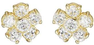 Jennifer Meyer Women's Diamond Flower Stud Earrings - Gold