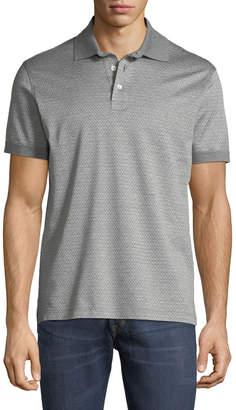 Salvatore Ferragamo Men's Cotton Gancini-Jacquard Polo Shirt