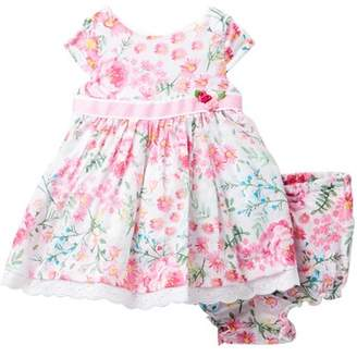Laura Ashley Floral Print Dress (Baby Girls)