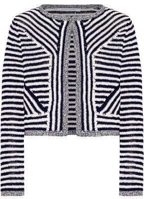 Diane von Furstenberg Sydell Cropped Striped Cotton Jacket