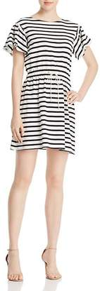 Kate Spade Striped Fit-and-Flare Dress