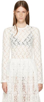 Comme des Garçons Comme des Garçons Off-White Lace Crewneck Pullover $300 thestylecure.com