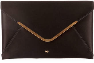 Anya Hindmarch Postbox Satin Envelope Clutch Bag