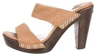 Jimmy Choo Embossed Leather Platform Sandals