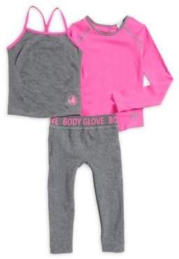 Body Glove Girl's Three-Piece Activewear Set