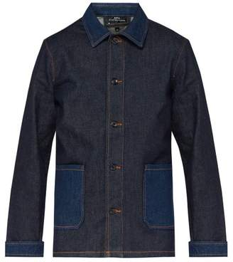 A.P.C. Mathis Point Collar Denim Jacket - Mens - Indigo