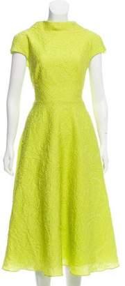 Lela Rose Textured Midi Dress