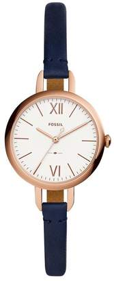 Fossil Women's 'Annette' Quartz Stainless Steel and Leather Casual Watch, Color: (Model: ES4359)