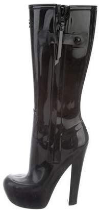 Louis Vuitton Rubber Platform Knee-High Rainboots