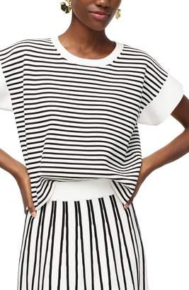 J.Crew Stripe Boxy Short Sleeve Sweater