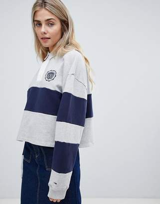 Tommy Jeans crop rugby shirt