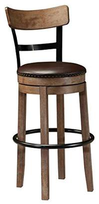 Signature Design by Ashley Ashley Furniture Signature Design - Pinnadel Swivel Bar Stool - Pub Height - Light Brown
