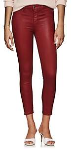 L'Agence Women's Margot Coated High-Rise Skinny Jeans - Md. Red