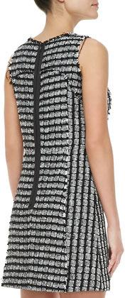 Milly Geometric Tweed Sleeveless Dress