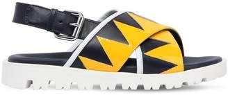 Marni Junior Leather & Patent Sandals