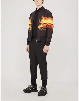 Neil Barrett Flame-print shell bomber jacket
