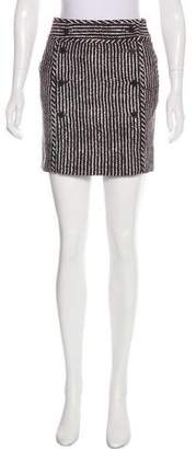 Tory Burch Striped Mini Skirt