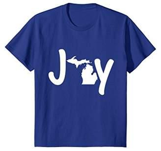 Joy Michigan Christmas State Pride Graphic T-Shirt
